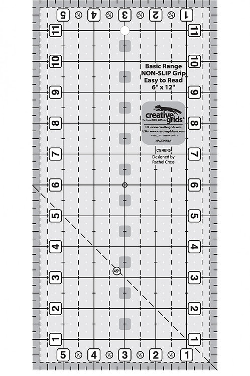 "Creative Grids Ruler Basic Range 6"" X 12.5"" Rectangle"