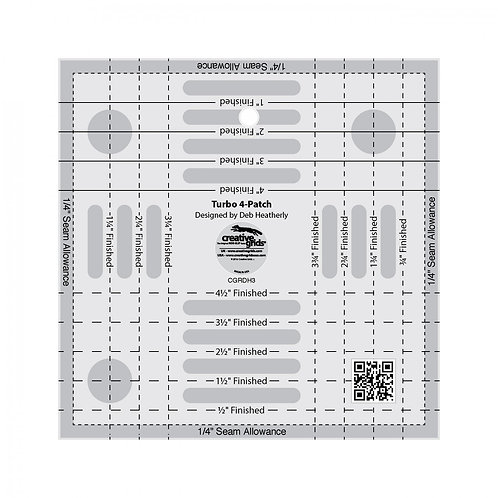 Creative Grids Ruler Turbo 4-Patch Template