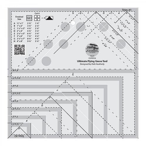 Creative Grids Ruler Ultimate Flying Geese Tool