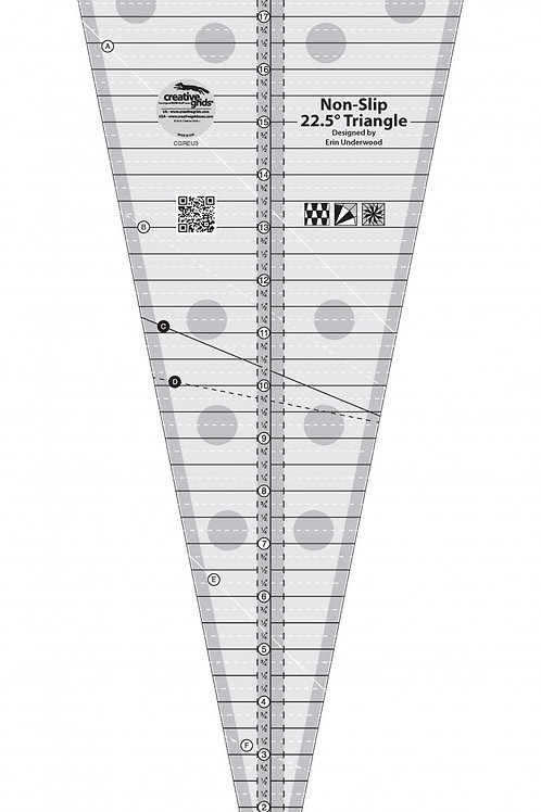 Creative Grids Ruler 22.5 Degree Triangle