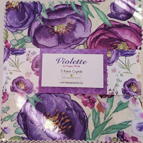 "Violette 5"" Squares Charm Pack"