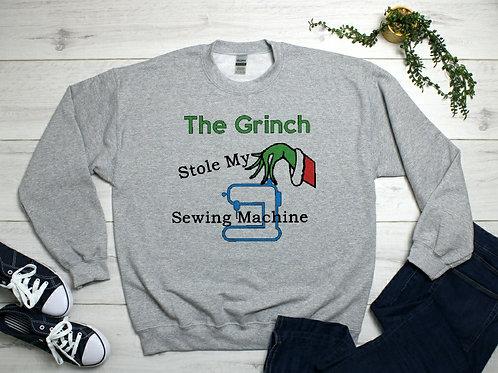 The Grinch Stole My Sewing Machine Unisex Sweatshirt