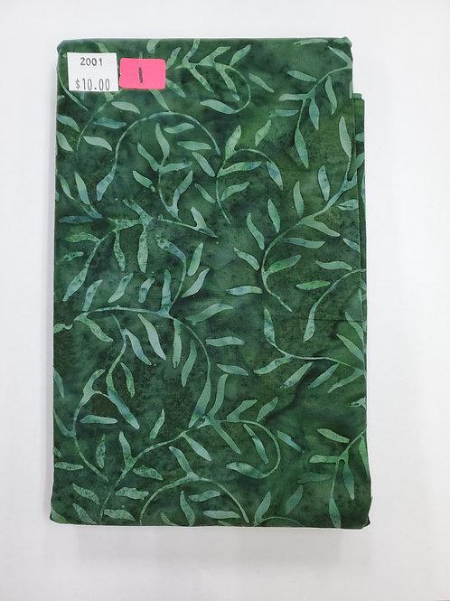 Batik #1- Green with leaves