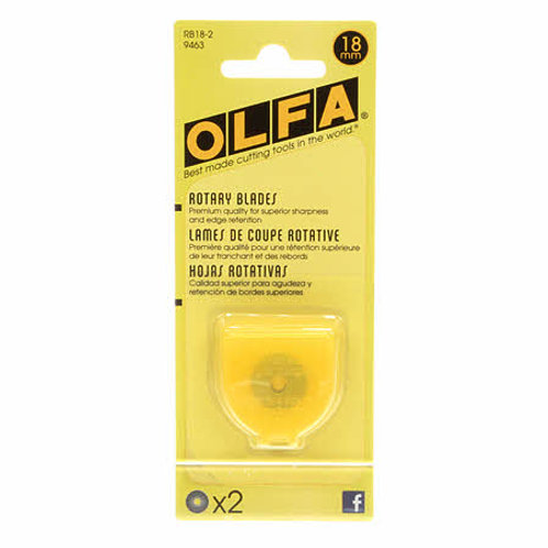 Olfa 18 mm Rotary Blade Replacement-2 pack
