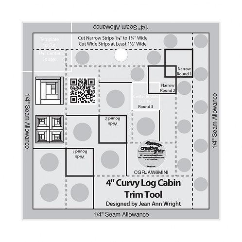 "Creative Grids Ruler 4"" Curvy Log Cabin Trim Tool"