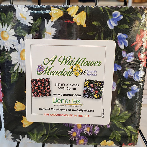 """A Wildflower Meadow 5"""" Squares Charm Pack"""