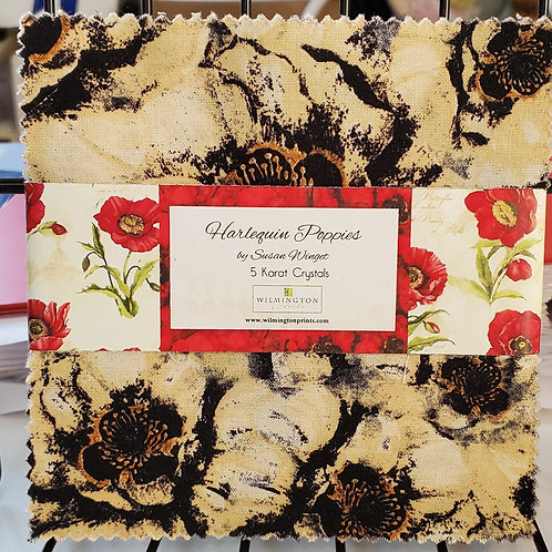 """Harlequin Poppies 5"""" Squares Charm Pack"""