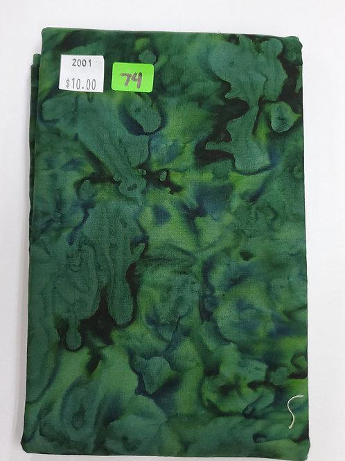 Batik # 74 -Green