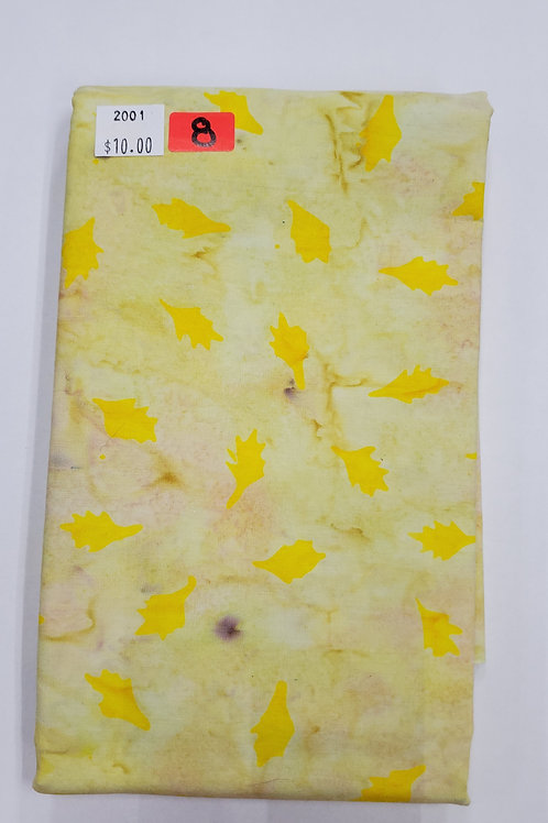 Batik # 8 - Yellow With Leaves