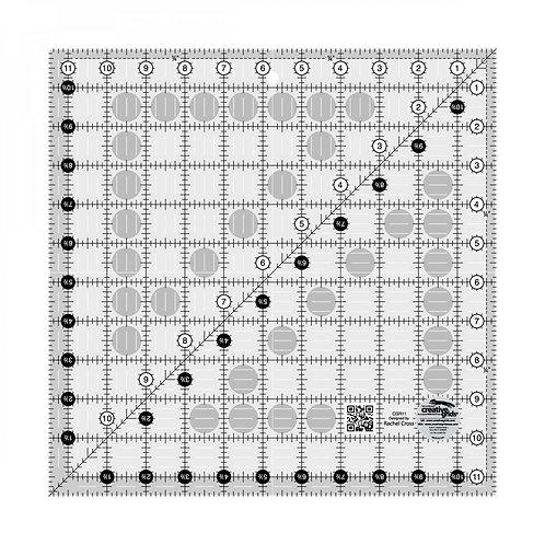 "Creative Grids Ruler 11.5"" X 11.5"" Square"