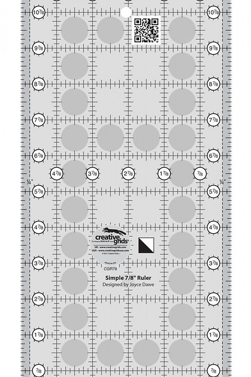 Creative Grids Ruler Simple 7/8 Triangle Maker