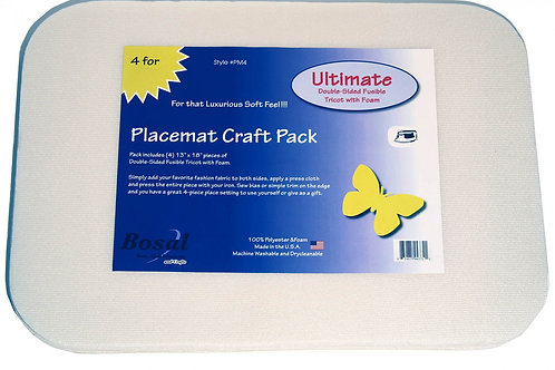 "Ultimate 13"" X 18"" Double Side Fusible Tricot With Foam Placemats"