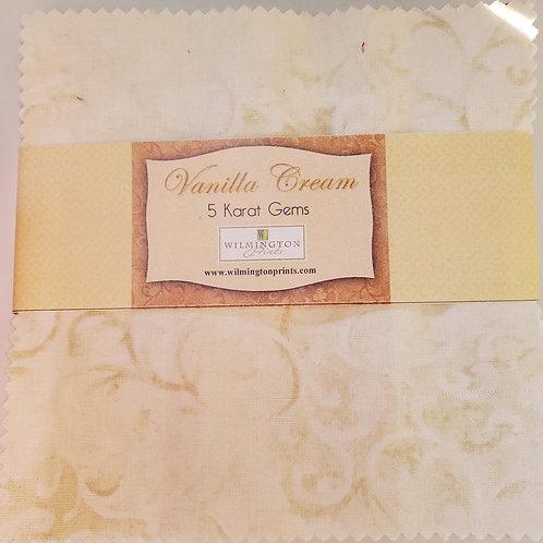 """Vanilla Cream 5"""" Squares Charm Pack"""