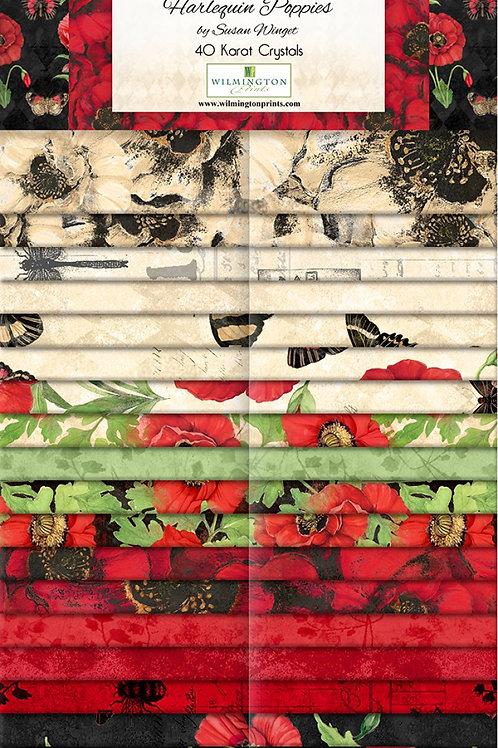 "Harlequin Poppies 2.5"" Strips 40 pcs"