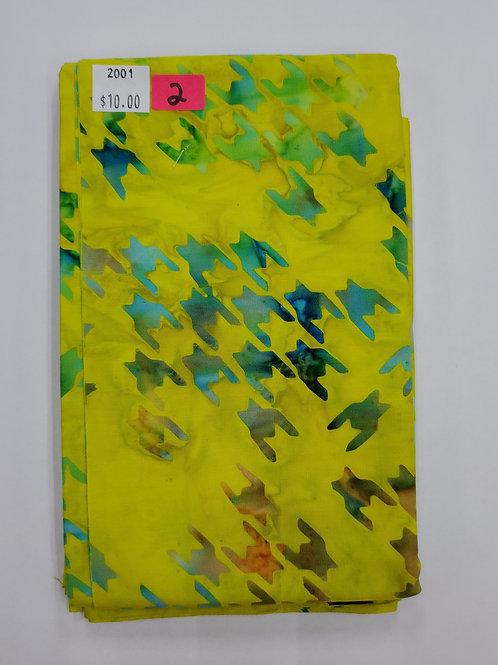 Batik # 2-Yellow Geometric