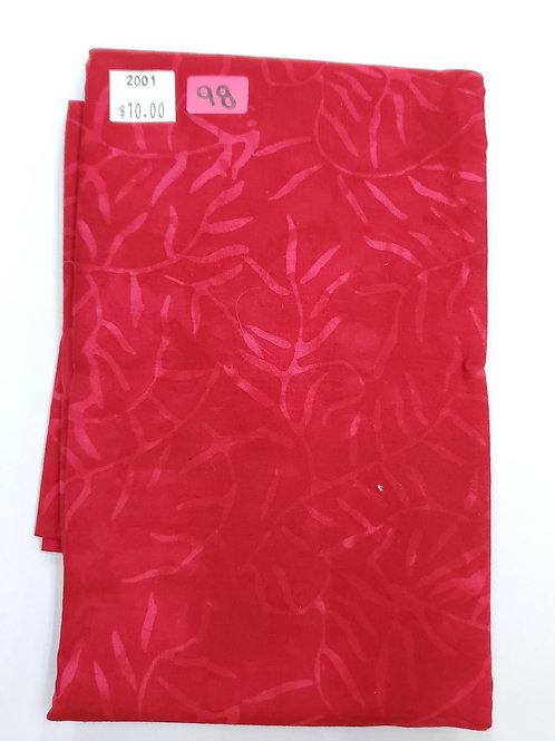 Batik # 98 - Red With Vines