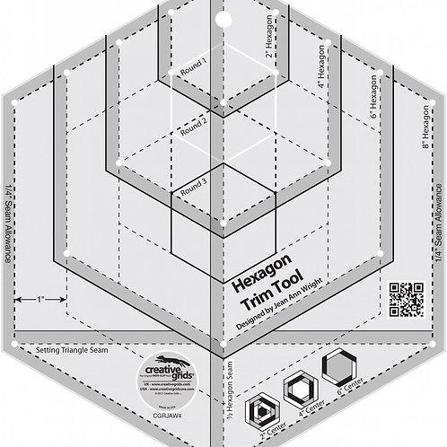 Creative Grids Ruler Hexagon Trim Tool