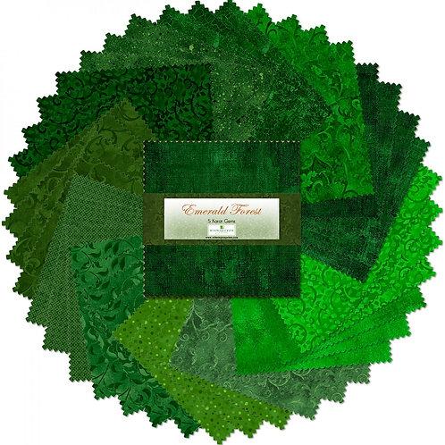 "Emerald Forest 5"" Squares 42 pcs"