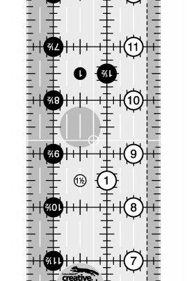"""Creative Grids Ruler 2.5"""" X 18.5"""""""
