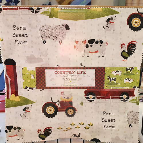 """Country Life 10"""" Squares Layer Cake"""