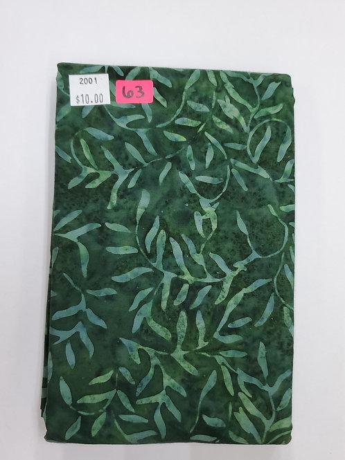 Batik # 63 -Green Vines