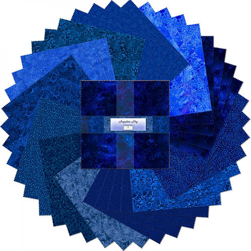 "Sapphire Sky 10"" Squares Layer Cake 42 pcs"