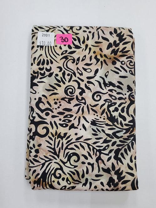 Batik # 30 - Black Designs