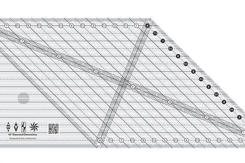 Creative Grids Ruler 45 Degree Diamond Dimension