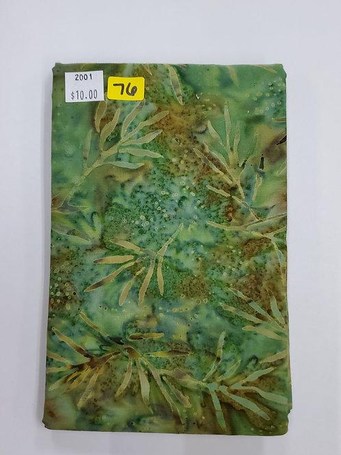 Batik # 76 -Green Mix With Vines