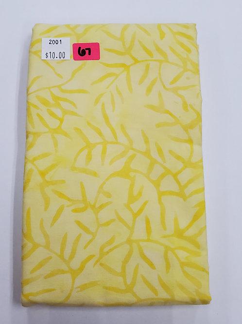 Batik # 67 -Yellow With Vines