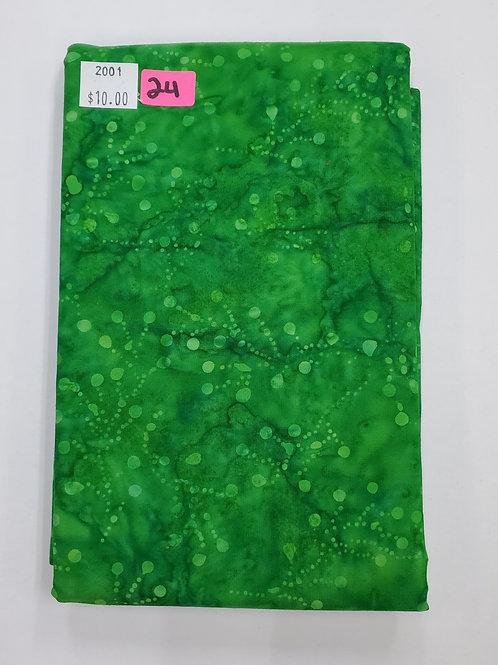 Batik # 24 - Green With Dots