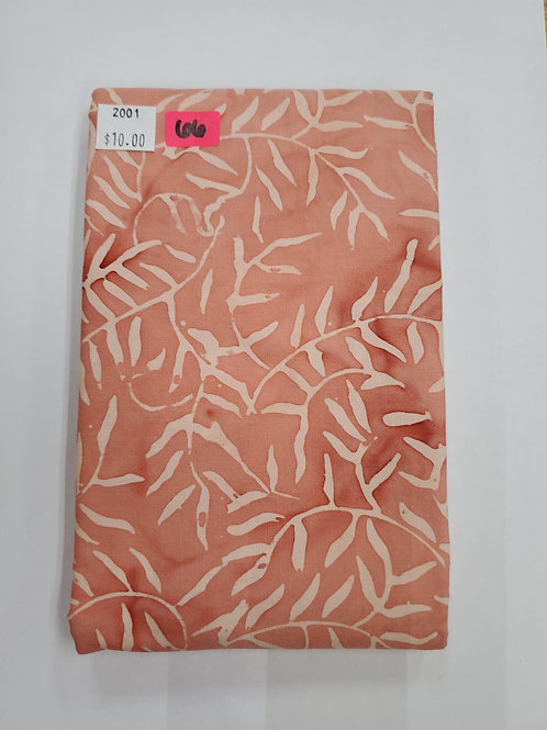 Batik # 66 - Peach With Vines