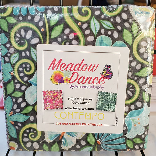 """Meadow Dance 5"""" Squares Charm Pack"""