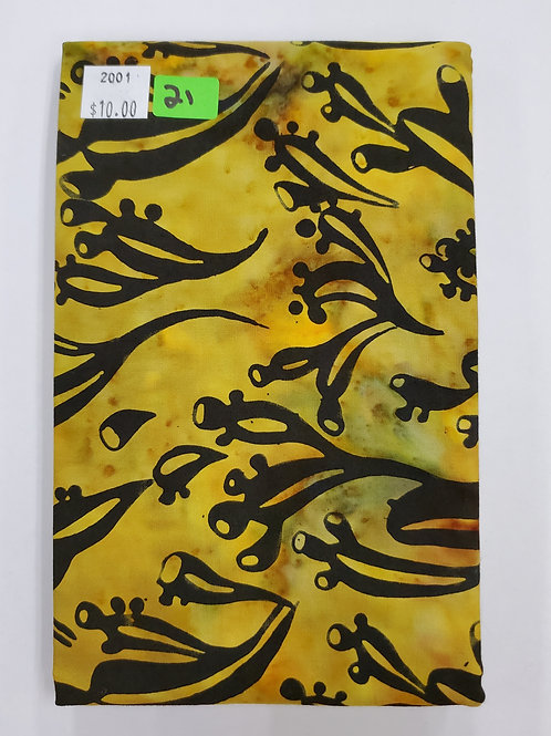 Batik # 21 - Yellow With Black Design