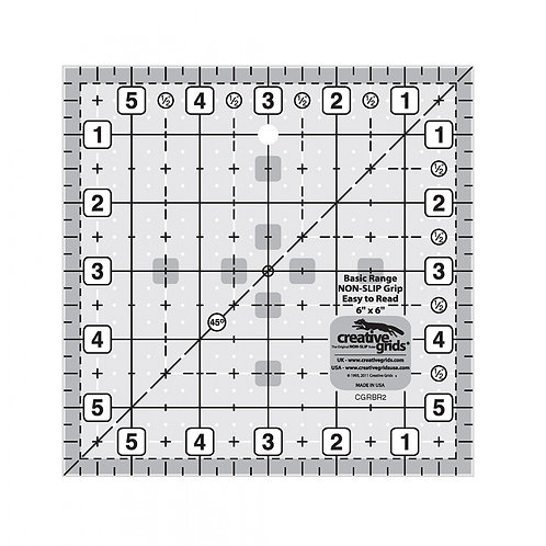 "Creative Grids Ruler Basic Range 6"" Square"