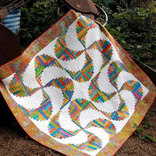 Rainbow Swirls Cut Loose Press