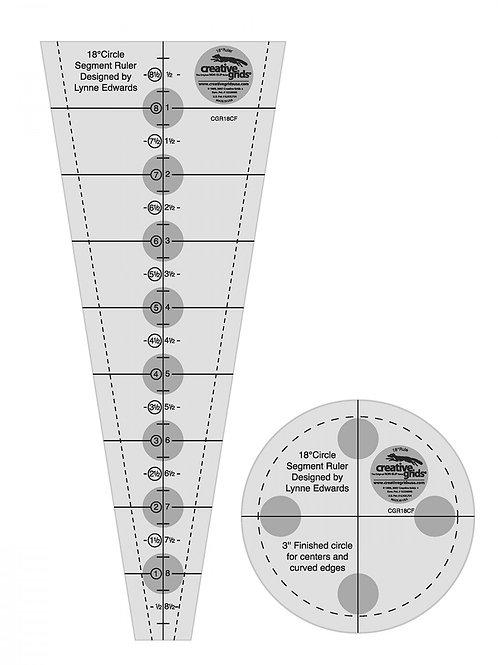 Creative Grids Ruler 18 Degree Dresden Plate Quilt Ruler