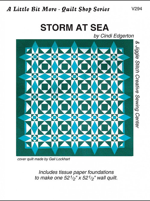 Little Bits Storm At Sea Paper Piecing Pattern