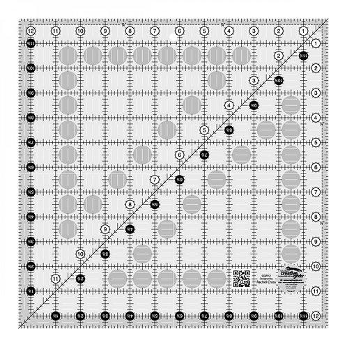 "Creative Grids Ruler 12.5"" Square"