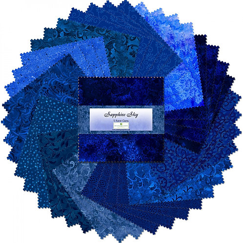 """Sapphire Sky 5"""" Squares Charm Pack"""
