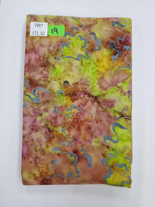 Batik # 19 -Multi-colored