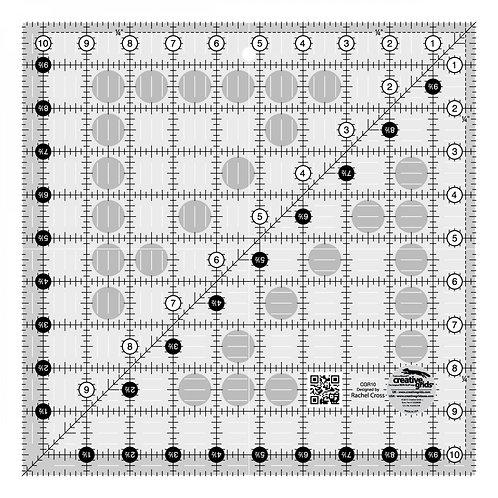 "Creative Grids Ruler 10.5"" Square"