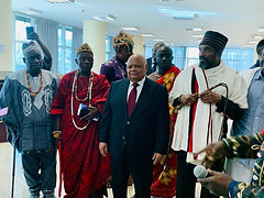Président Katebe With Africans Kings