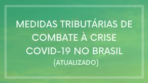Medidas tributárias atuais de combate à crise COVID no Brasil