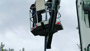 Nuovo impianto di illuminazione a LED per l'area esterna