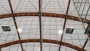 È iniziata la posa dei nuovi proiettori a LED nel Palasport