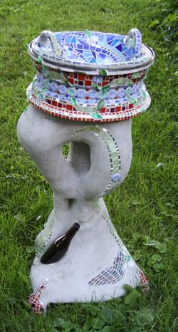 8 ou 10, sculpture bain d'oiseaux