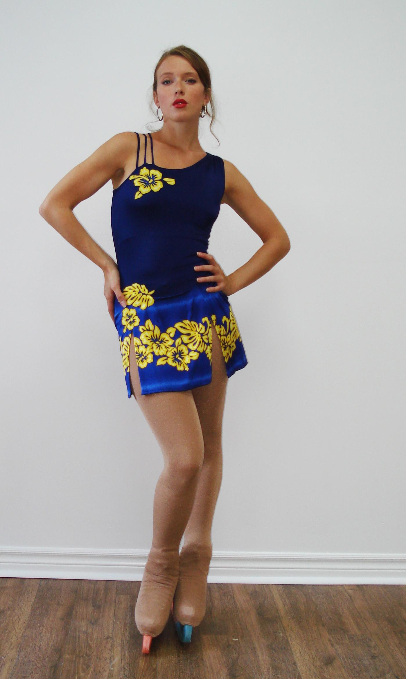 Robe hawaïenne bleue