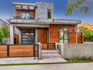 532 N Huntley Drive, high-end modern off trendy Melrose Place in West Hollywood.