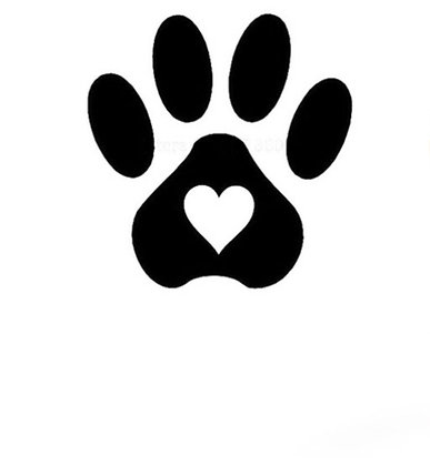 Sticker Paws Black